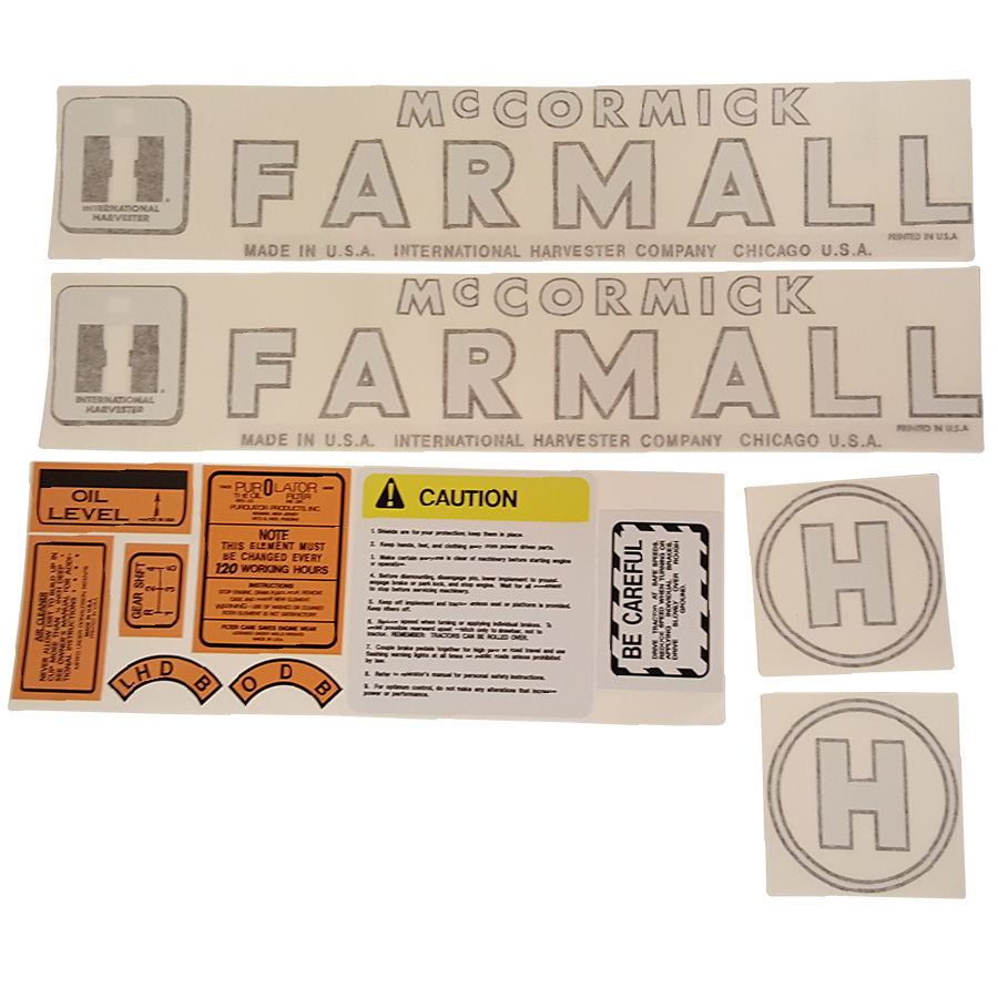 International Harvester Decal Set H International Harvester Decal Kit