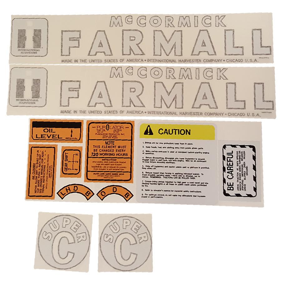International Harvester Super C Decal Kit