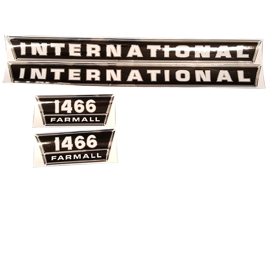 International Harvester Decal Set 1466 International Harvester Hood Decal Kit