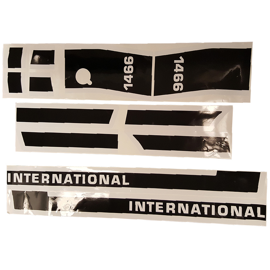 International Harvester Decal Set 1466 Late International Hood Decal Kit (LATE MODEL)