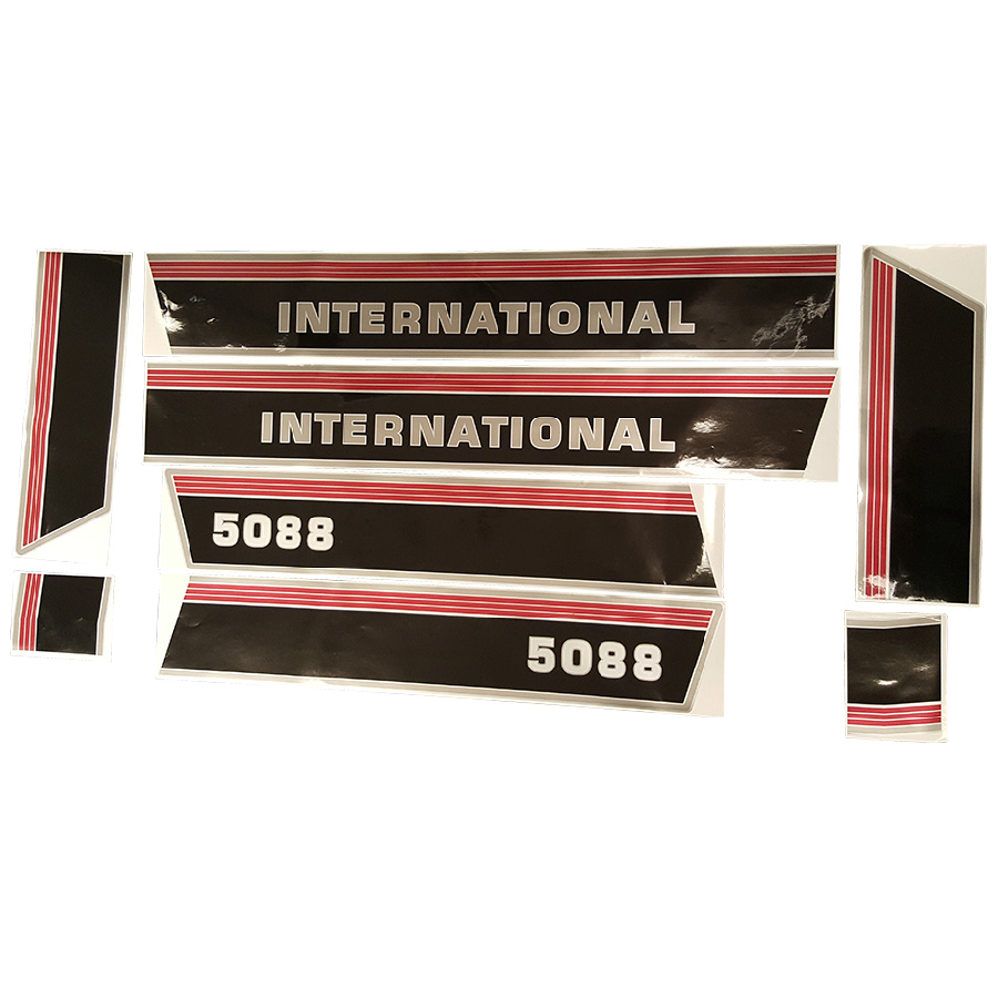 International Harvester Decal Set 5088 International Hood Decal Kit