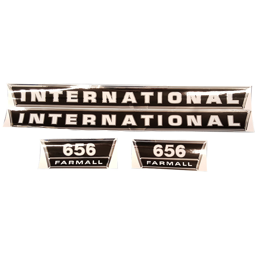 International Harvester Decal Set 656 International Harvester Hood Decal Kit