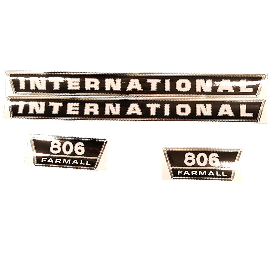 International Harvester Decal Set 806 International Harvester Hood Decal Set