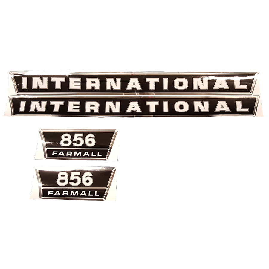 International Harvester Decal Set 856 International Harvester Hood Decal Kit