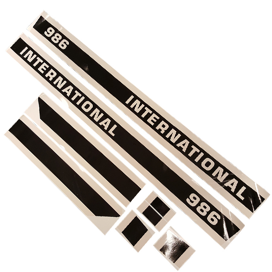 International harvester black strip decal