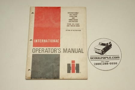 Vibra Shank Cultivator Operators Manual