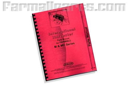 Farmall M, MD Series parts manual.  Reproduction of original IH manual.