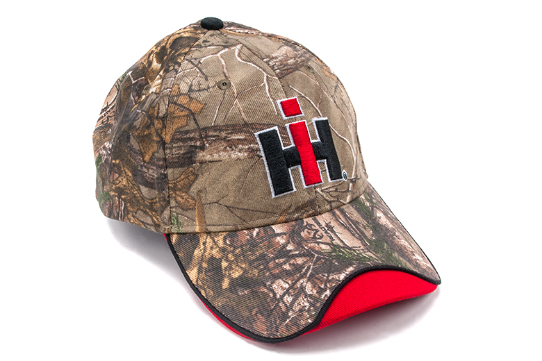Camo Hat with IH Logo and Red on Edge, Cap