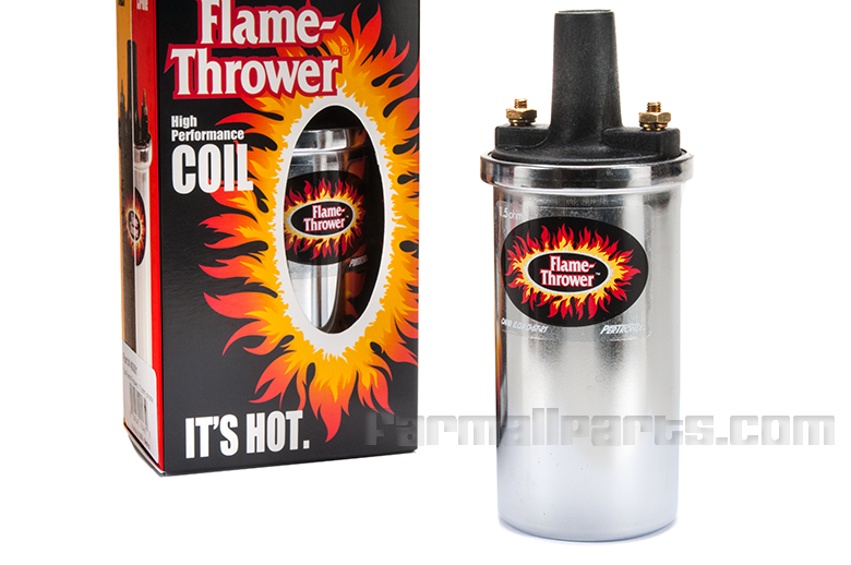 Pertronix  Coil, High Performance For Cub (Chrome) - 12-VOLT, 'Flame Thrower'