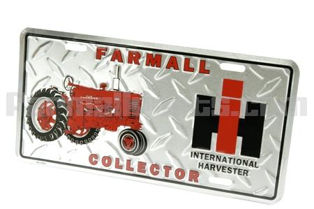 Farmall Collectors Edition Metal License Plate - Final Few