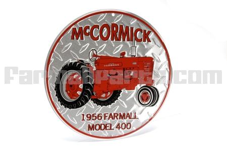 Round Farmall 1956 Model 400 Sign