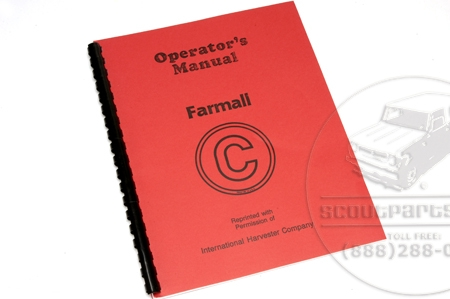 Operators Manual - Farmall C.