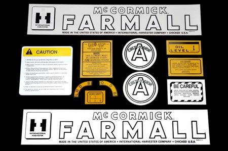 Decal Sets For Farmall/McCormick Farmall  A Culti-vision, 12 Pieces