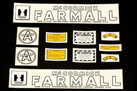 Decal Set For  Farmall Super A Culti-vision, (1947-1954)