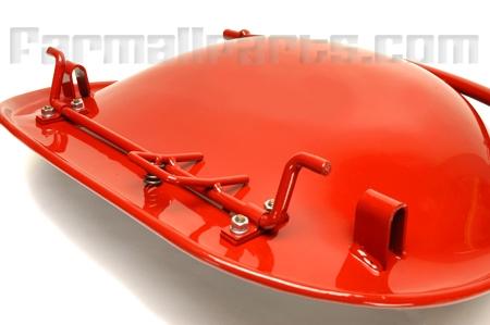 Seat -  Black Pan Seat - Farmall  A, AV, B, BN, SUPER A, SUPER AV, 100, 130, EARLY 140; WILL ALSO FIT IH 300, 350, 460 UTILITIES W