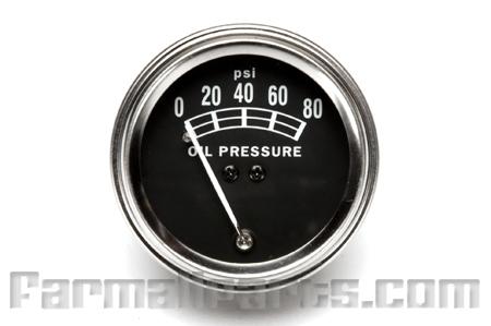 oil pressure gauge, Farmall  A, Super A, B, C, Super C, H, M, 4, 6, 9, Super 9, 100, 130, 140, 200, 230, 240, 300, 330, 340, 350, 400