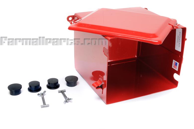 BATTERY BOX With  LID & HARDWARE - Farmall A, B, BN