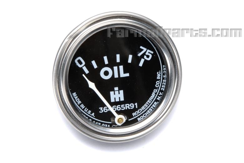 Oil pressure Gauge -  Farmall Cub, Cub Lo-Boy, Super A, AV, C, Super C, 100, 130, 140, 200, 230, 240,