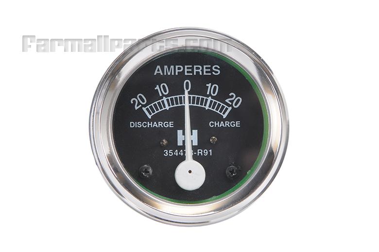 Ammeter - Farmall Cub, A, B, Super A,  C, Super C,  Super H, M,  MD, , W4, W-6, WD-6, W-9, WD-9, WR-9, WDR-9.