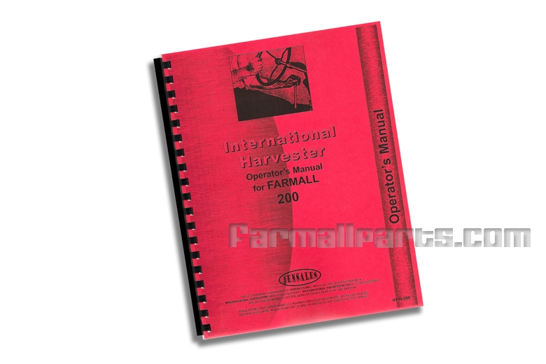 Operators Manual - IH Farmall 200