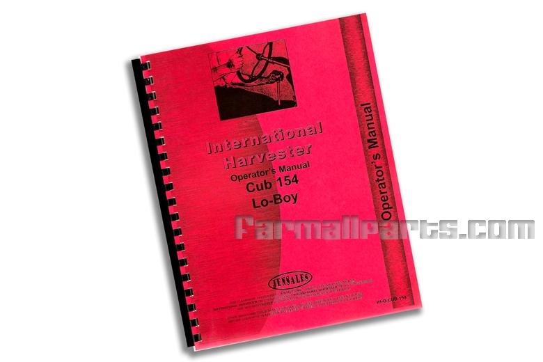 Operators Manual - IH Cub 154 Lo-Boy