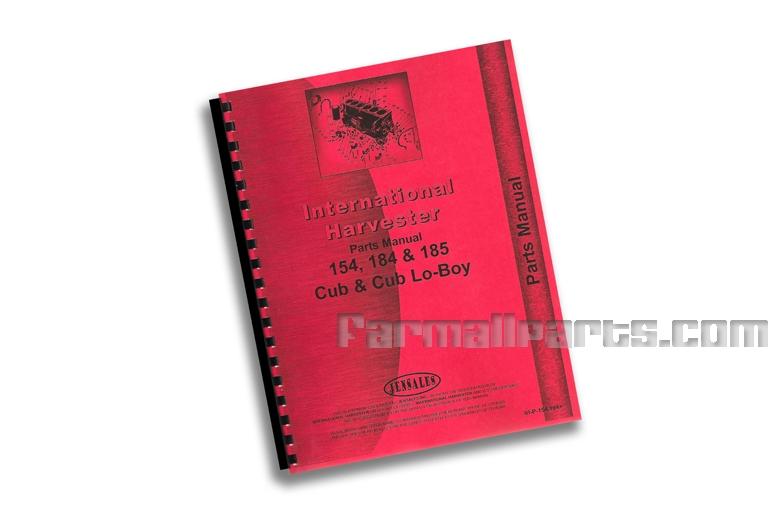 Parts Manual - IH 154, 184 & 185 Cub & Cub Lo-Boy
