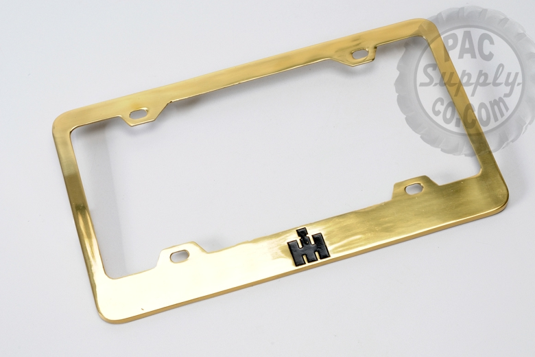 Solid Brass License plate frame with