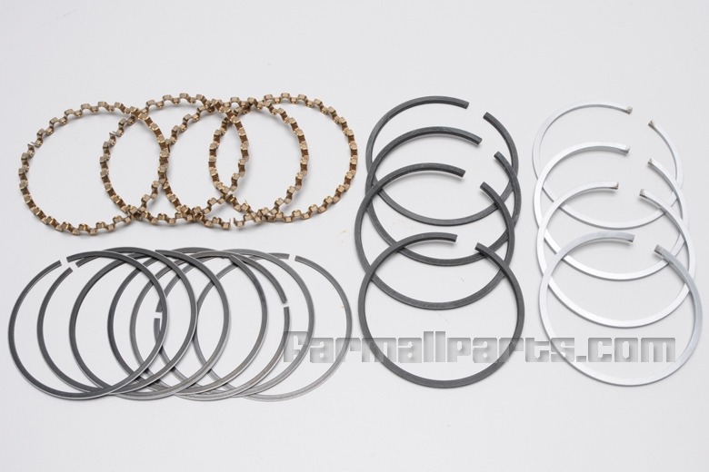 Piston Ring Set - C123 Engine (Chrome) 2 rings and 1 oil ring per cylinder