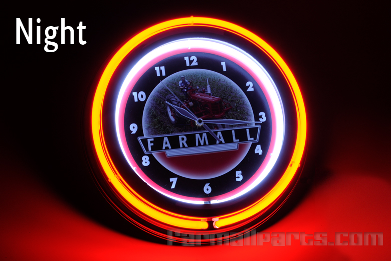 Farmall Neon Wall Clock -no longer available unfortunetly