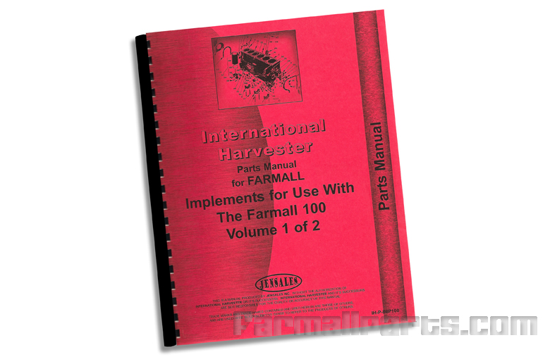 Implement Parts Manual - Farmall 140 Tractor
