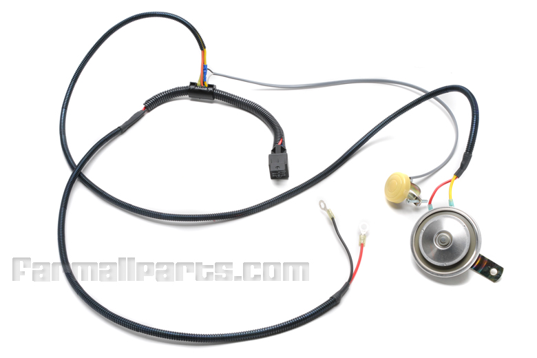 Horn kit - 12 volt with wire loom