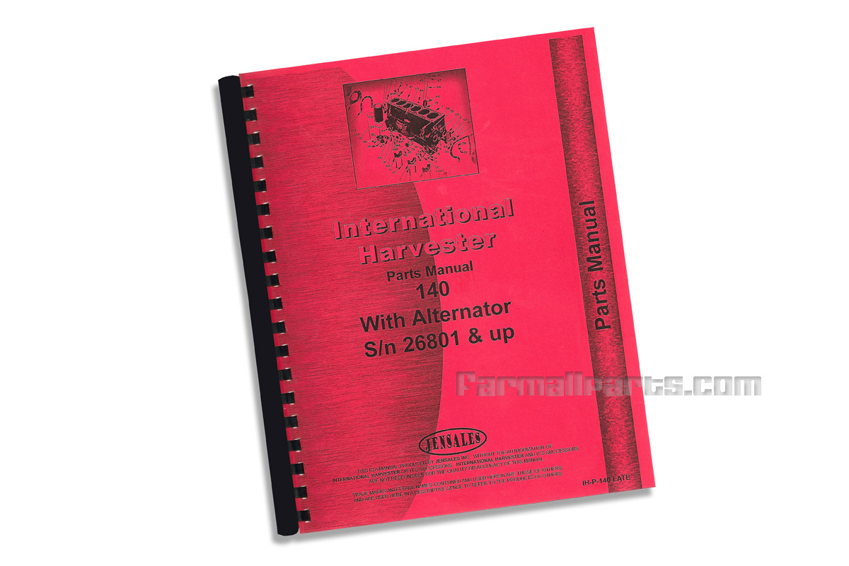 Parts Manual 140 S/N 26801 And Up