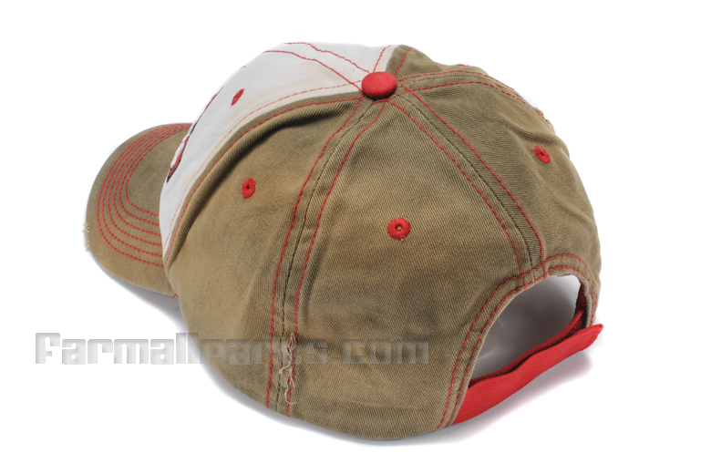 Farmall Tea Stained Distressed Ball Cap