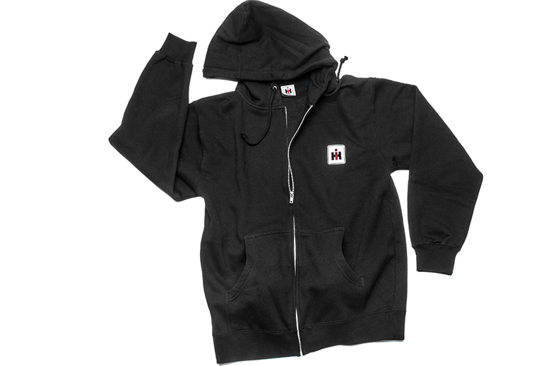 IH Black Zip-Up Hoodie