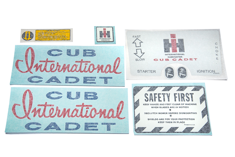 Decal Set, Cub Cadet Original
