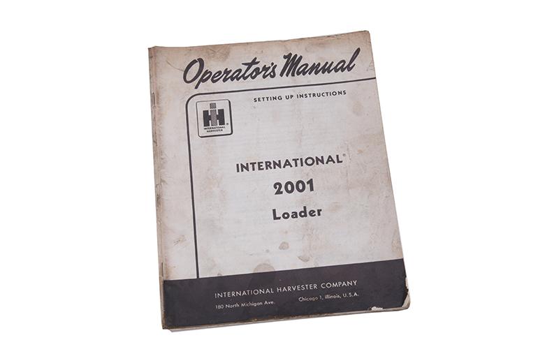 Operators Manual 2001 Loader