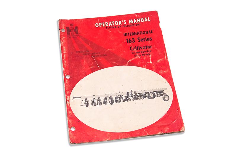 Operators Manual 163 Cultivator