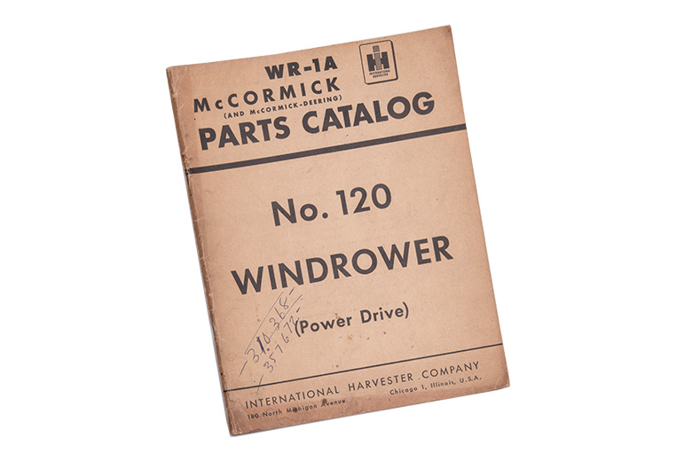 Parts Catalog Windrower