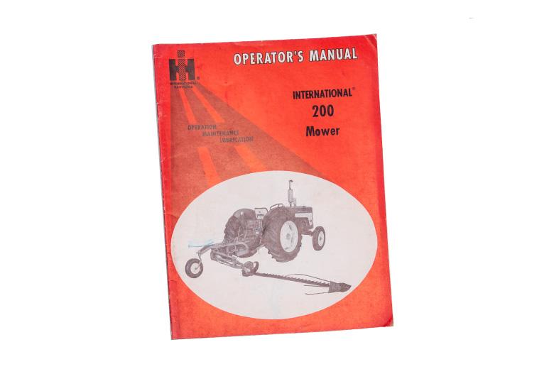 Opertors Manual 200 Mower