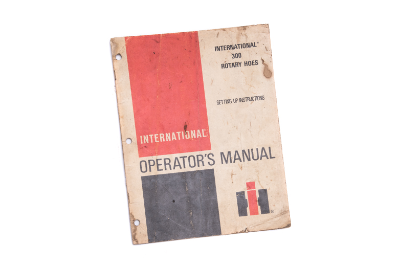 Operators Manual 300 Rotary Hoes