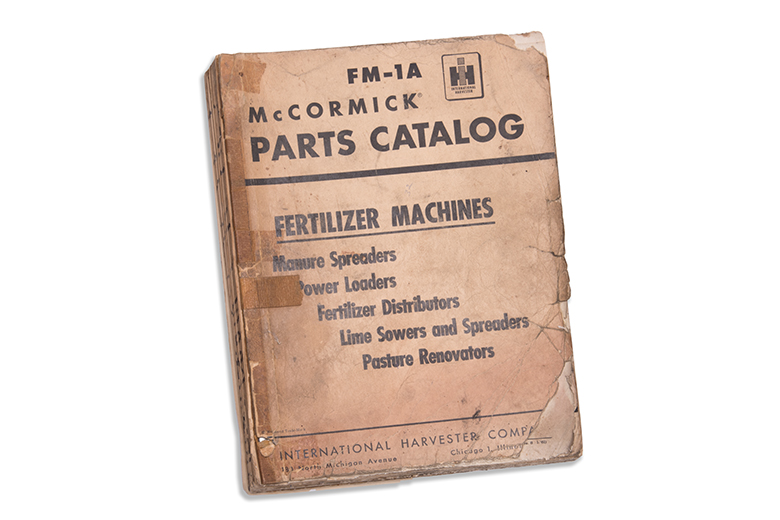 McCormick FM-1A Parts Catalog Fertilizer machines