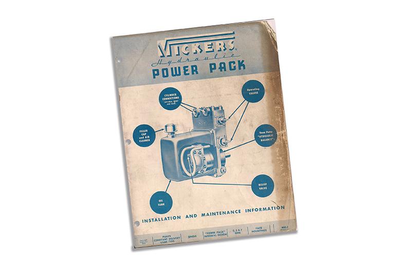 Vickers Hydraulic Power Pack Installation & Maintenance Information 1947 farm