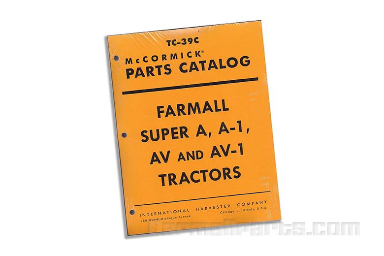Parts Catalog - Farmal Super A, A-1, AV, AV-1