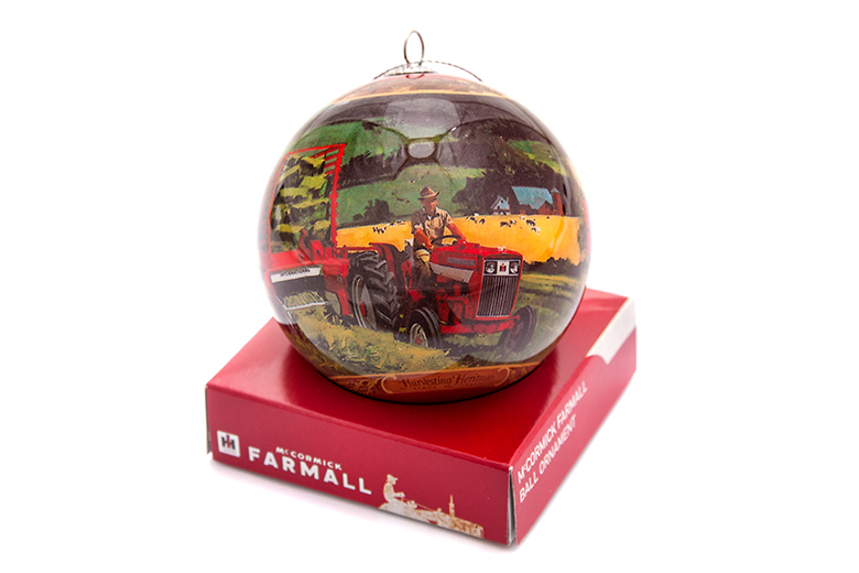 McCormick Farmall Christmas Ornament Ball