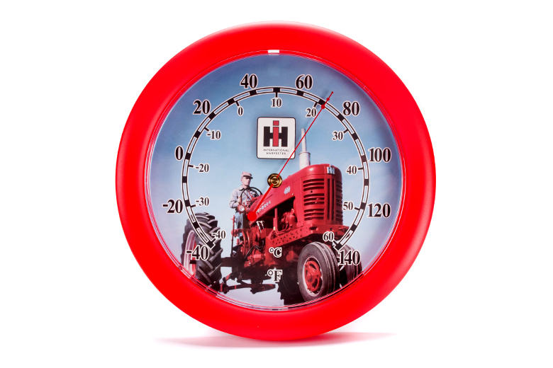 Round Farmall Outdoor Thermometer