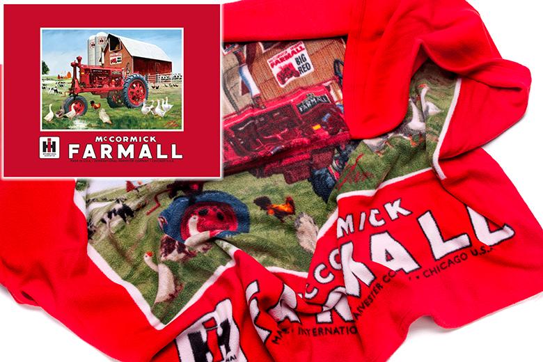 Farmall Fleece blanket