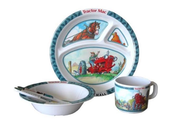 Tractor Mac Childrens Dish Set