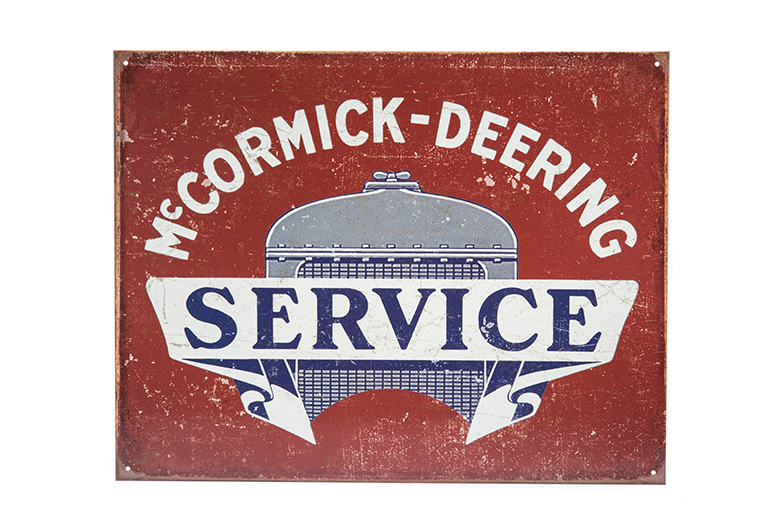 McCormick Deering Service Metal Sign