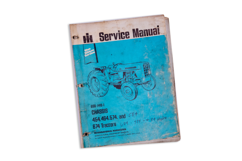 Blue Ribbon International Chassis Service Manual 454, 464, 574, 584, 674, 684-784 and 84 Hydro