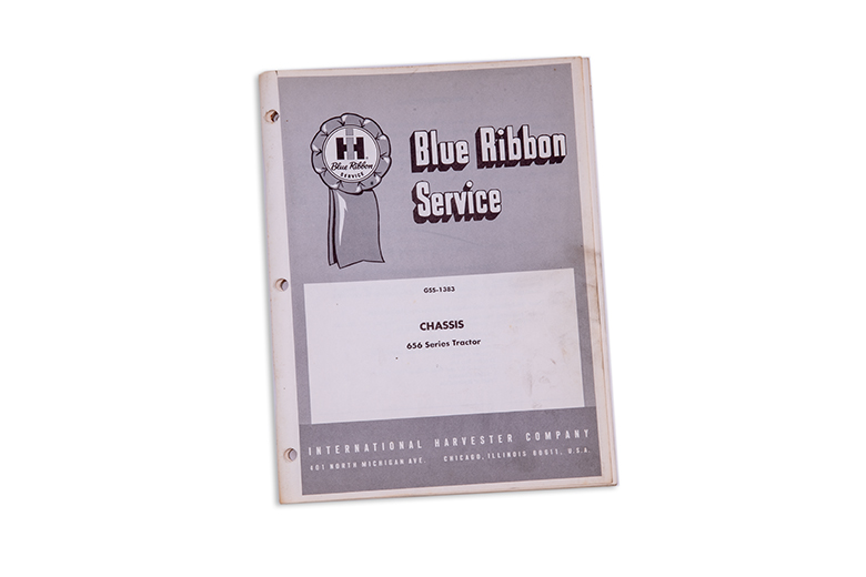 Blue Ribbon service manual 656 Series tractor and Supplement manual included
